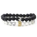 Copper Fashion Skeleton Skull bracelet  Alloy Crown + Alloy Crown NHYL0408AlloyCrownAlloyCrown