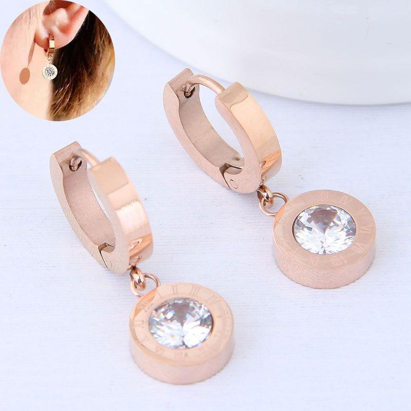 Titanium&Stainless Steel Korea earring NHNSC14243