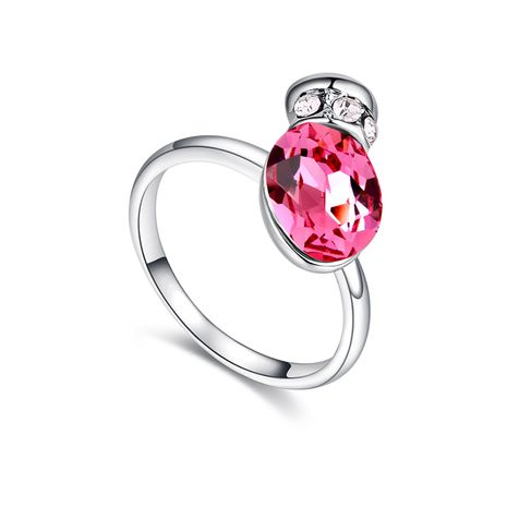 Austrian Imitated crystal Ring - Romantic Pot (Rose Red) NHKSE29661-9's discount tags