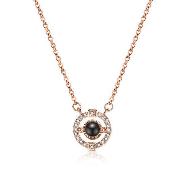 Copper Fashion Geometric necklace  (61181590A) NHXS2258-61181590A