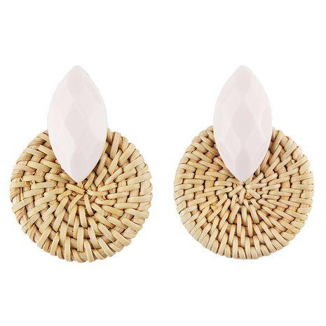 Cloth Vintage Geometric earring  (white) NHJQ11156-white's discount tags