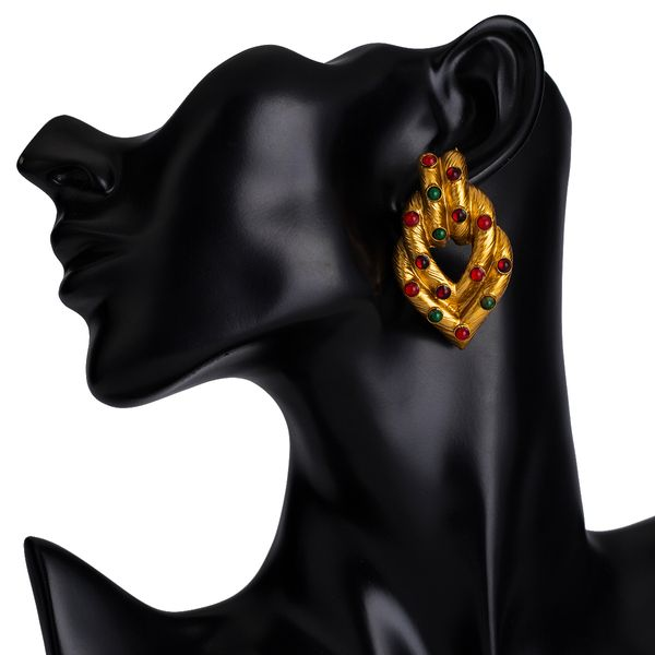Alloy Fashion Geometric earring  (yellow) NHJE2425-yellow