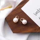 Alloy Korea Geometric earring  A white beads NHMS2008Awhitebeads