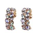 Imitated crystalCZ Bohemia Geometric earring  color NHJQ11135color