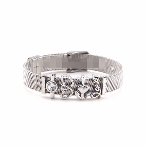 Titanium&Stainless Steel Simple Geometric bracelet  (Steel bracelet) NHSX0407-Steel-bracelet