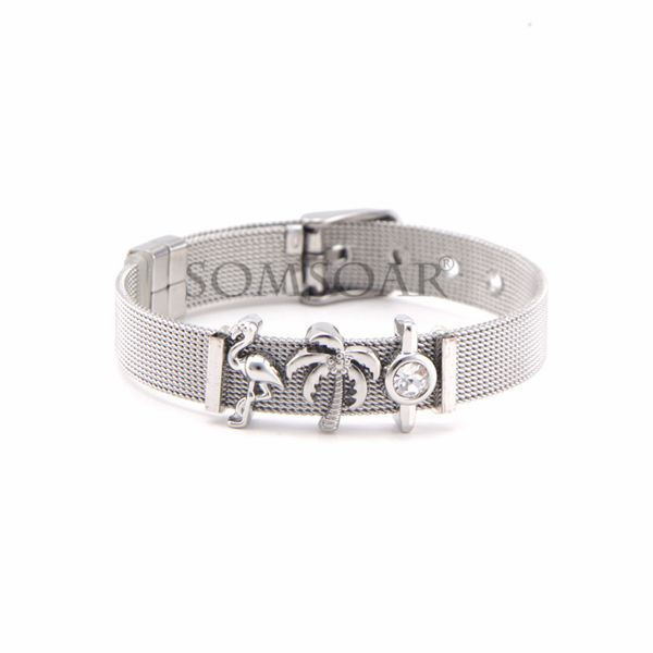 Titanium&Stainless Steel Simple Geometric bracelet  (Steel bracelet) NHSX0408-Steel-bracelet