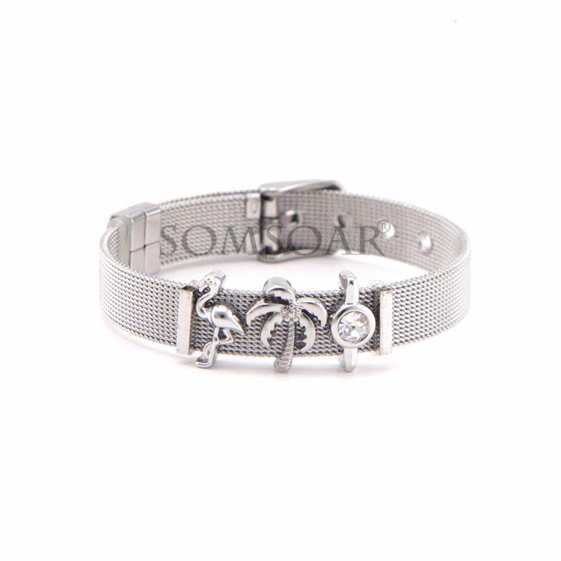 Titanium&Stainless Steel Simple Geometric bracelet  (Steel bracelet) NHSX0408-Steel-bracelet