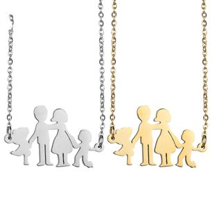 Titanium&Stainless Steel Simple Cartoon necklace  (Steel color) NHHF1259-Steel-color's discount tags