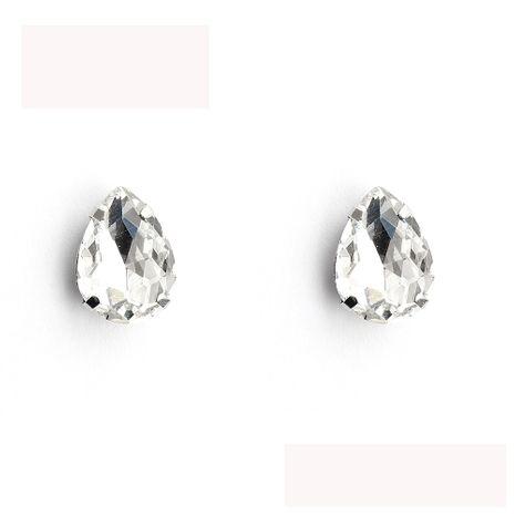 Pendiente geométrico de cristal imitado y CZ Fashion (blanco K + diamantes de imitación blancos) NHHS0627-White-K-white-rhinestone's discount tags