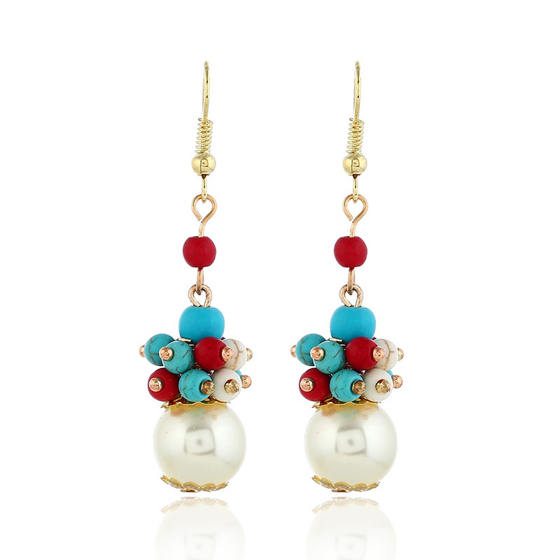 Alloy Fashion Geometric earring  (Colorful KC alloy) NHKQ2223-Colorful-KC-alloy