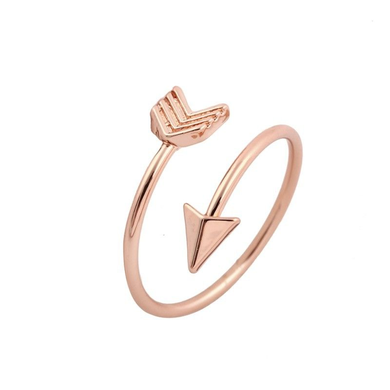 Titanium&Stainless Steel Simple  Ring  (Rose alloy) NHIM1556-Rose-alloy