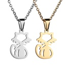 TitaniumStainless Steel Korea Animal necklace  Steel color NHHF1258Steelcolor
