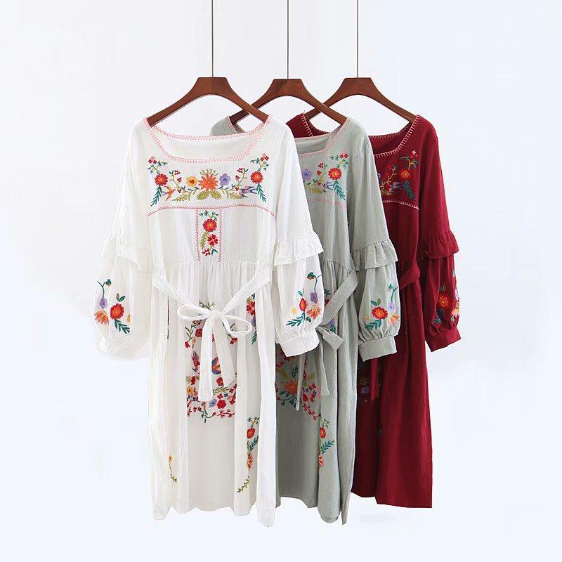 Cotton Fashion  dress  (red) NHAM7238-red
