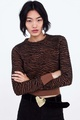 Polyester Fashion  Sweater  (Zebra-S) NHAM7224-Zebra-S