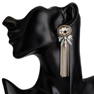 Acrylic Fashion Tassel earring  (white) NHJE2459-white's discount tags