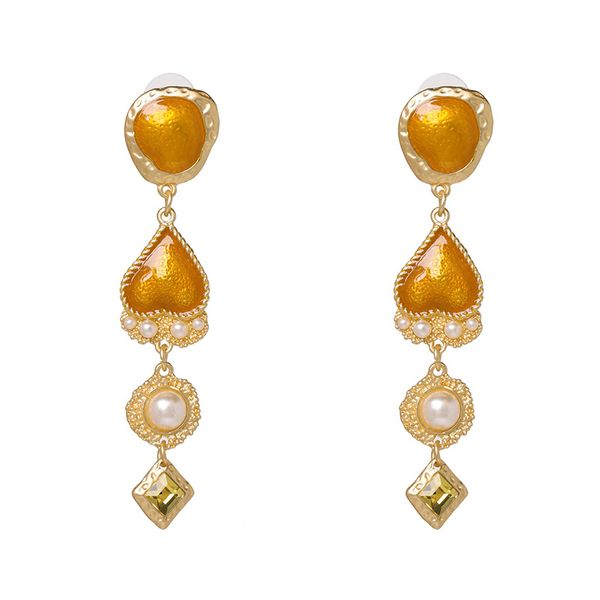Alloy Fashion Geometric earring  (yellow) NHJJ5409-yellow