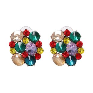 Imitated crystal&CZ Fashion Geometric earring  (color) NHJJ5436-color's discount tags
