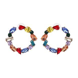 Alloy Fashion Geometric earring  (Blue color) NHJJ5442-Blue-color's discount tags