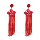 Plastic Fashion Flowers earring  red NHJJ5404red