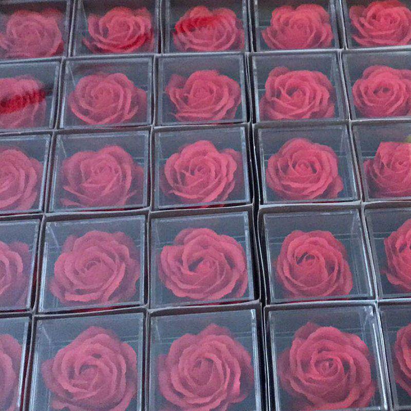 Alloy Fashion  Fashion Accessories  (Red soap flower jewelry box) NHMP0158-Red-soap-flower-jewelry-box