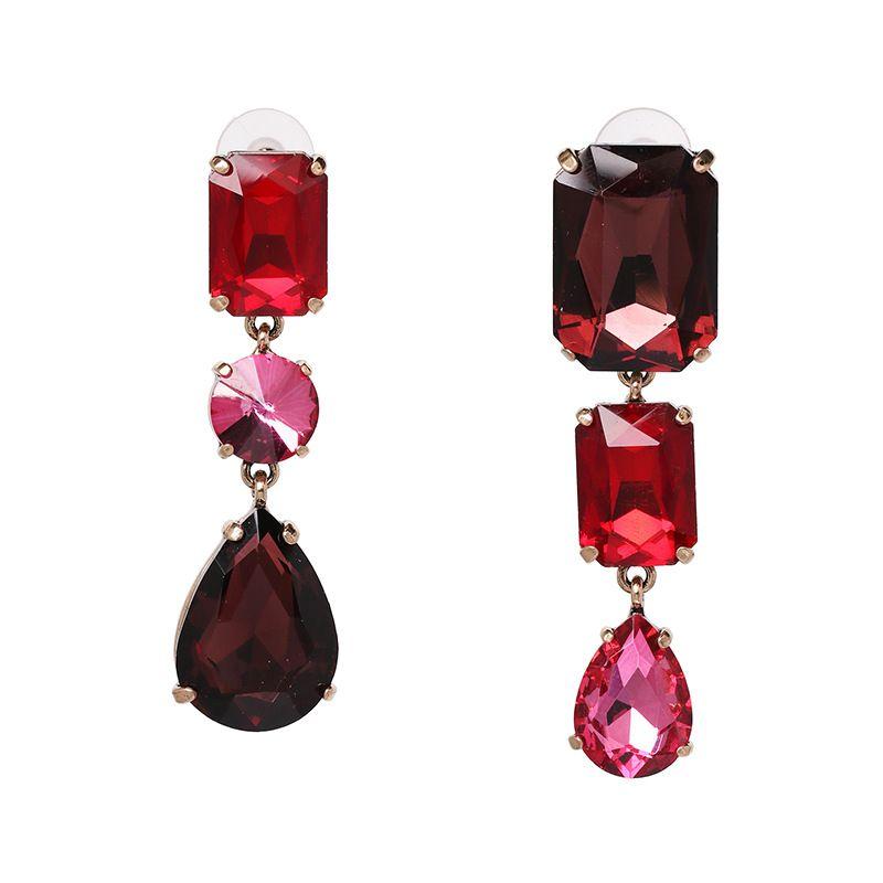 Alloy Fashion Geometric earring  (red) NHJJ5447-red