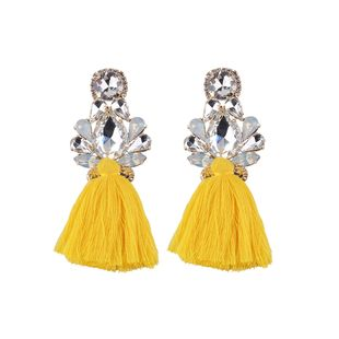 Imitated crystal&CZ Bohemia Flowers earring  (yellow) NHJQ11171-yellow's discount tags