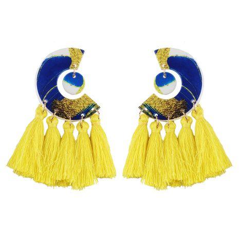 Cloth Fashion Tassel earring  (yellow) NHJQ11178-yellow's discount tags