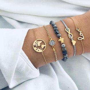 Bracelet noeuds vintage en alliage (6536) NHGY2901-6536