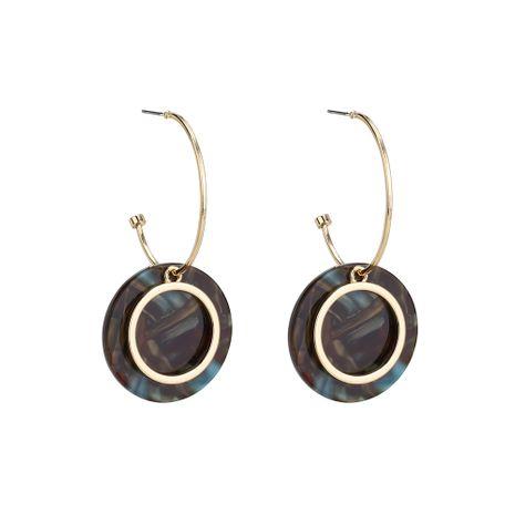 Boucle d'oreille géométrique vintage acrylique (violet) NHLL0287-violet's discount tags