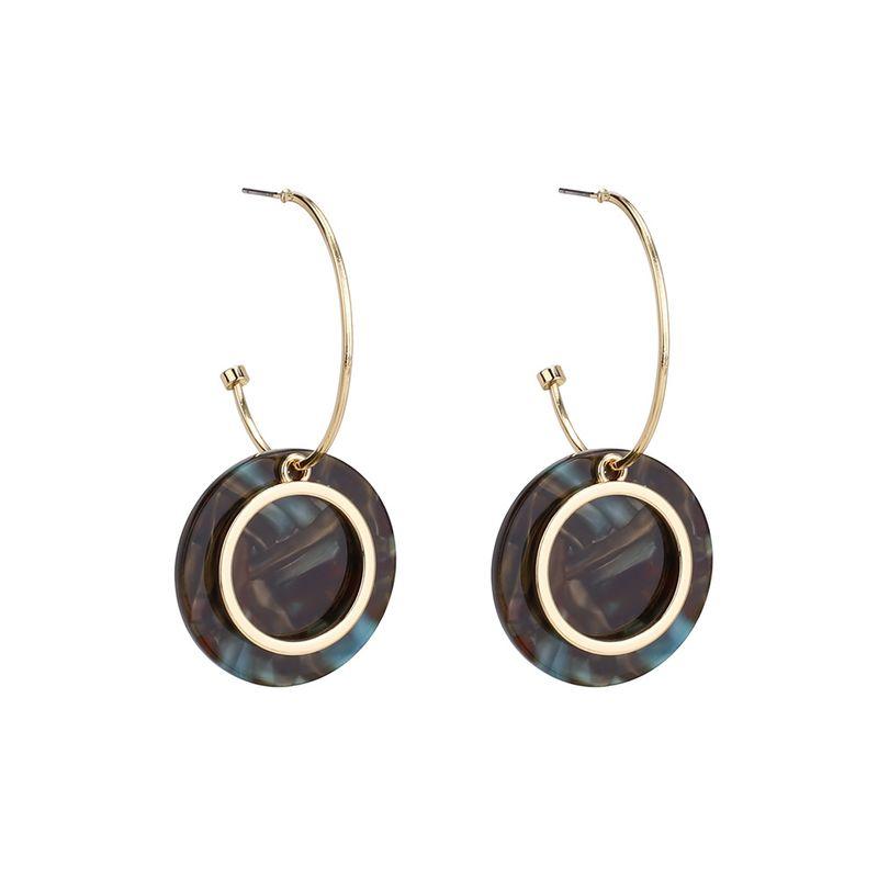 Acrylic Vintage Geometric earring  (purple) NHLL0287-purple