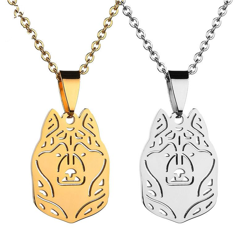 Titanium&Stainless Steel Fashion Animal necklace  (Steel color) NHHF1268-Steel-color