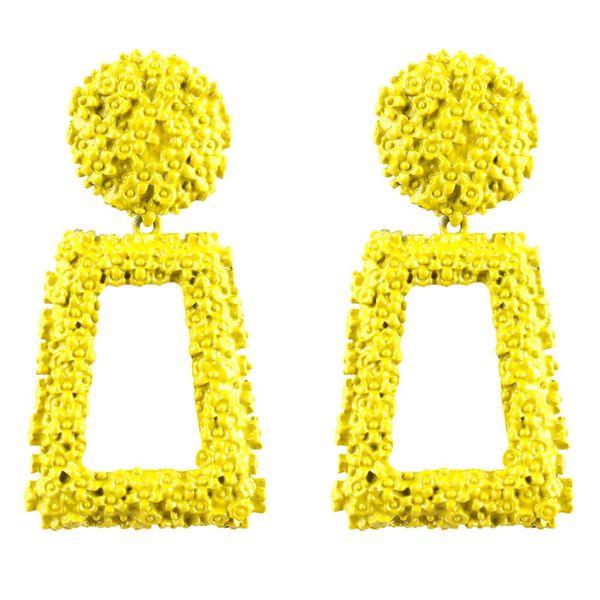 Alloy Fashion Geometric earring  (yellow) NHMD5142-yellow
