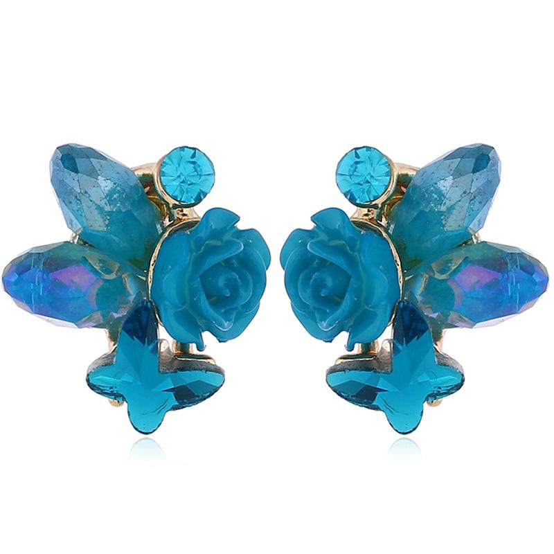 Alloy Fashion Flowers earring  (Kong Lan KC Alloy) NHKQ2244-Kong-Lan-KC-Alloy