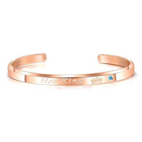 Bracelet en titane et acier inoxydable à la mode géométrique (alliage rose mâle) NHOP3149-alliage rose-mâle's discount tags