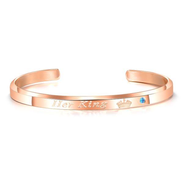 Titanium&Stainless Steel Fashion Geometric bracelet  (Rose alloy male) NHOP3149-Rose-alloy-male