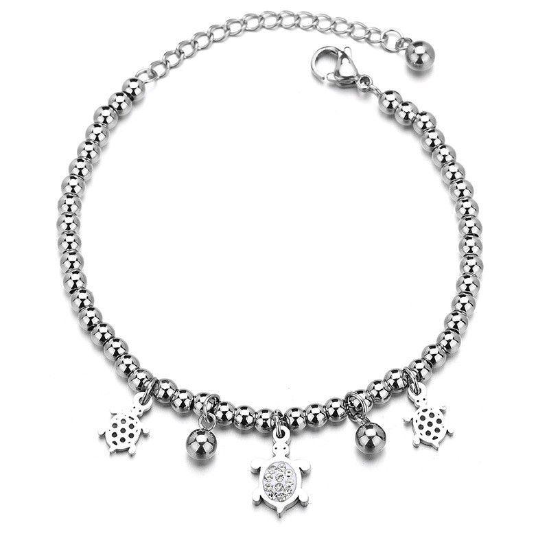 Titanium&Stainless Steel Simple Animal bracelet  (Steel color) NHHF1280-Steel-color