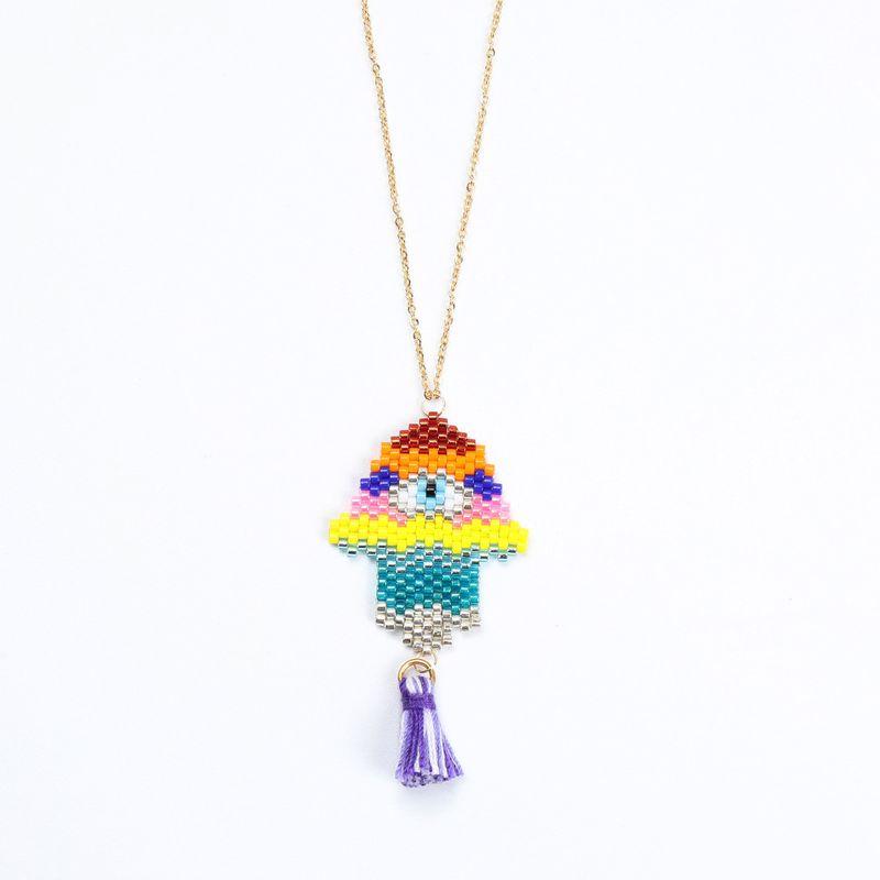 Alloy Fashion Geometric necklace  (MI-N180209A) NHGW1177-MI-N180209A
