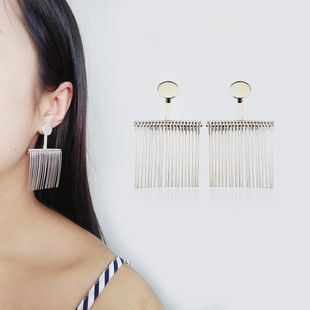 Alloy Fashion Tassel earring  (Photo Color) NHQS0050-Photo-Color's discount tags