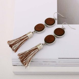 Alloy Fashion Tassel earring  (Photo Color) NHQS0067-Photo-Color's discount tags