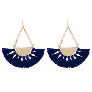 Alloy Fashion Tassel earring  (blue) NHQS0084-blue's discount tags