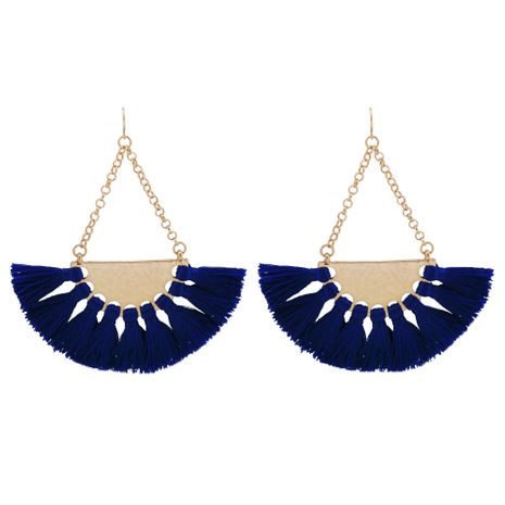 Alloy Fashion Tassel earring  (blue) NHQS0084-blue's discount tags