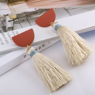Alloy Fashion Tassel earring  (Photo Color) NHQS0133-Photo-Color's discount tags