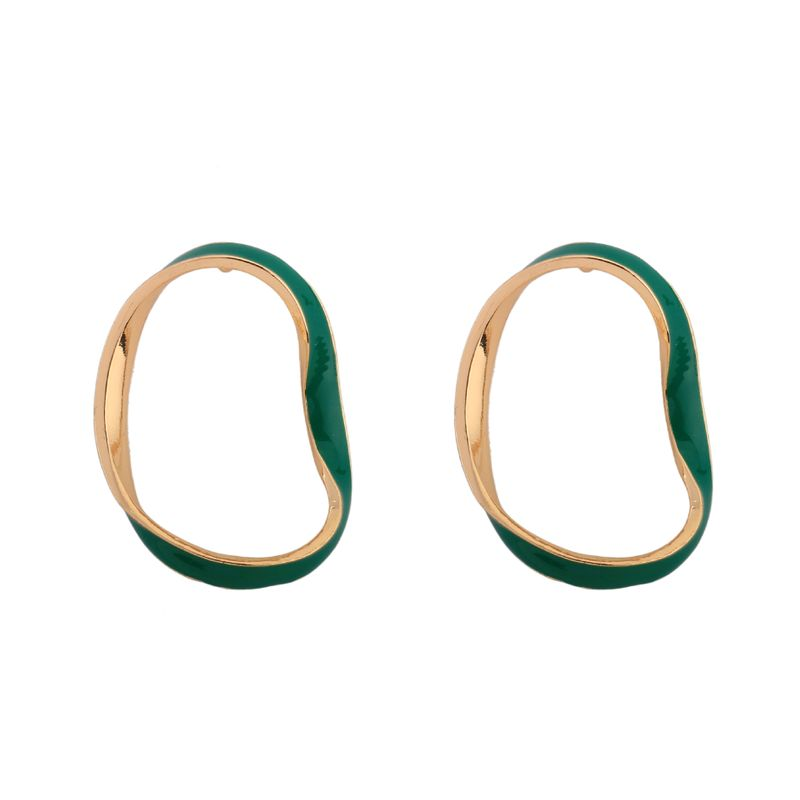 Alloy Fashion Geometric earring  (green) NHQS0263-green