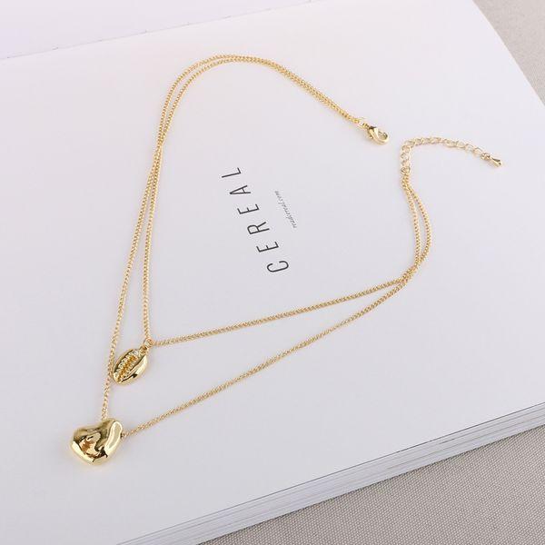 Alloy Simple Geometric necklace  (Photo Color) NHQS0424-Photo-Color