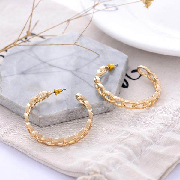 Alloy Simple Geometric earring  (Photo Color) NHQS0426-Photo-Color