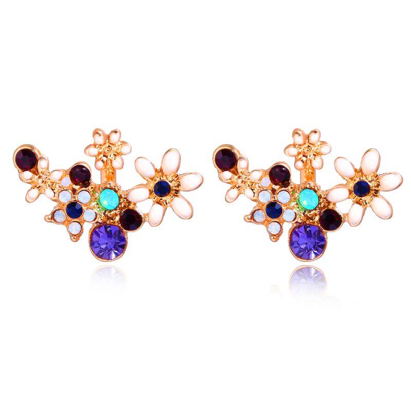 Alloy Korea Flowers earring  (GAQ0505) NHPJ0294-GAQ0505