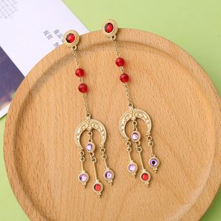 Alloy Fashion Tassel earring  (Photo Color) NHQD6092-Photo-Color's discount tags