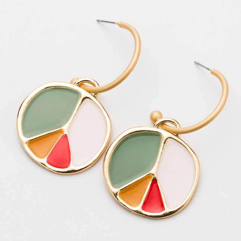 Alloy Fashion Geometric earring  (color) NHJE2500-color