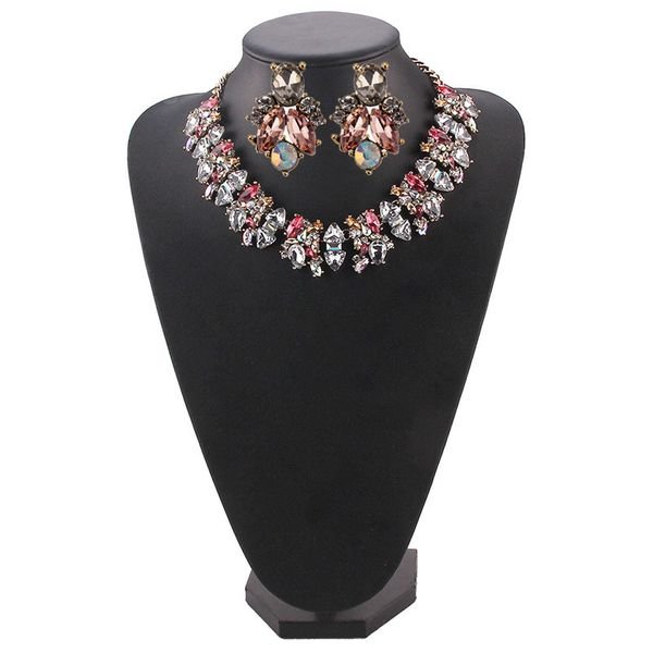 Alloy Fashion Geometric necklace  (Rose alloy) NHJQ11186-Rose-alloy