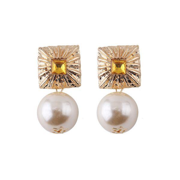 Alloy Fashion Geometric earring  (yellow) NHJQ11189-yellow